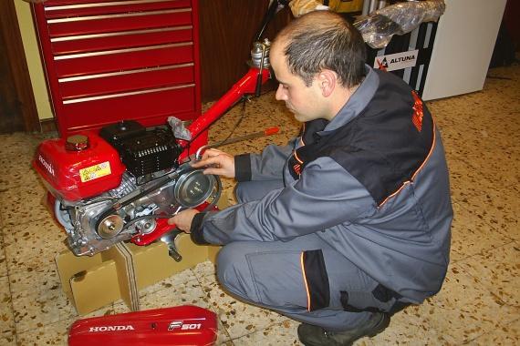 David de Agroarenas en el taller