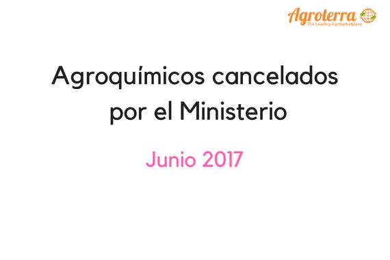 Agroquímicos cancelados por el Ministerio (5)