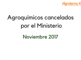 Agroquímicos cancelados por el Ministerio