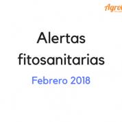 Alertas fitosanitarias febrero